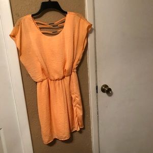 Neon orange summer dress